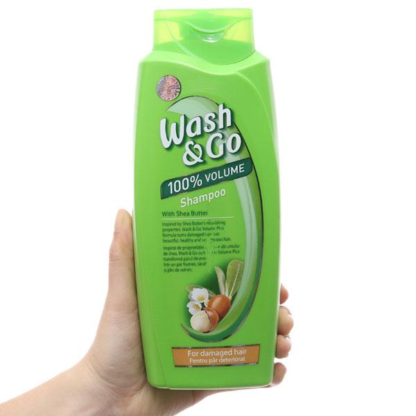 Dầu gội Wash&Go chăm sóc hư tổn nước hoa với 3 tầng hương 750ml