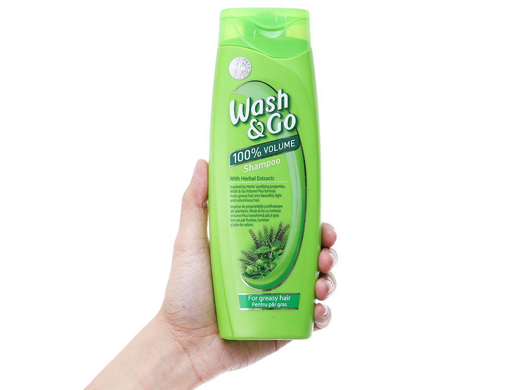 Dầu gội thảo mộc Wash&Go dành cho tóc nhờn 400ml 4