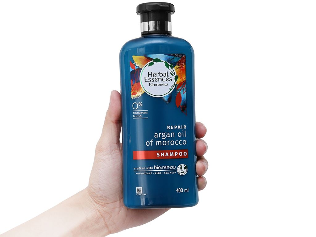 Dầu gội Herbal Essences tinh dầu Moroccan Argan 400ml 4