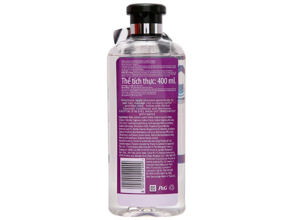 Dầu gội Herbal Essences thảo mộc và hương thảo 400ml 3
