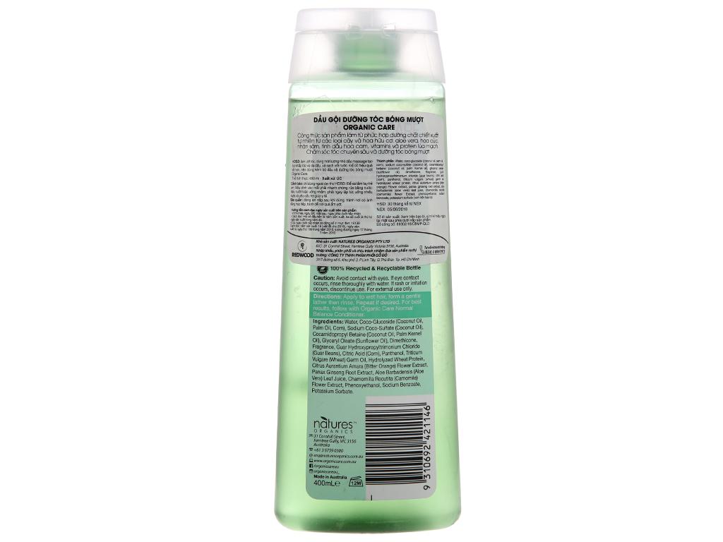 Dầu gội dưỡng tóc bóng mượt Organic Care Normal Balance 400ml 3