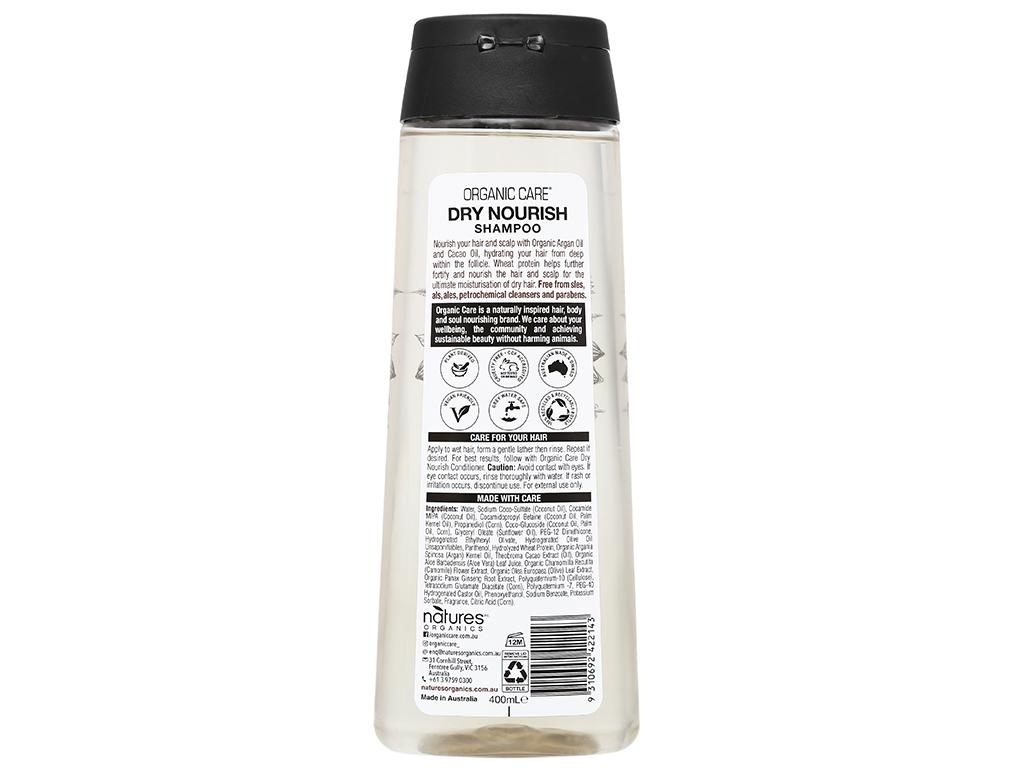 Dầu gội phục hồi hư tổn Organic Care Dry Nourish 400ml 3