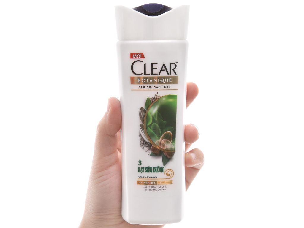 Dầu gội sạch gàu Clear Botanique 3 hạt siêu dưỡng 175ml 4