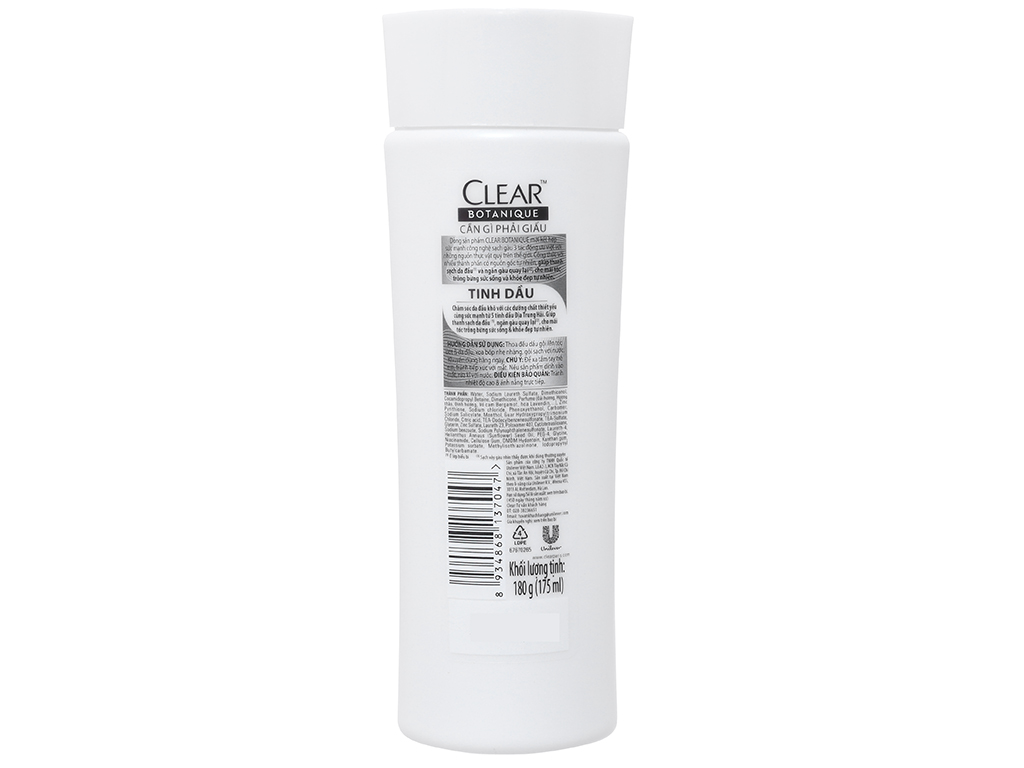 Dầu gội sạch gàu Clear Botanique 5 tinh dầu 175ml 3