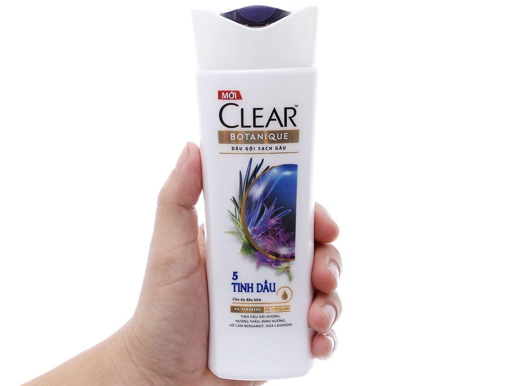 Dầu gội sạch gàu Clear Botanique 5 tinh dầu 175ml 4