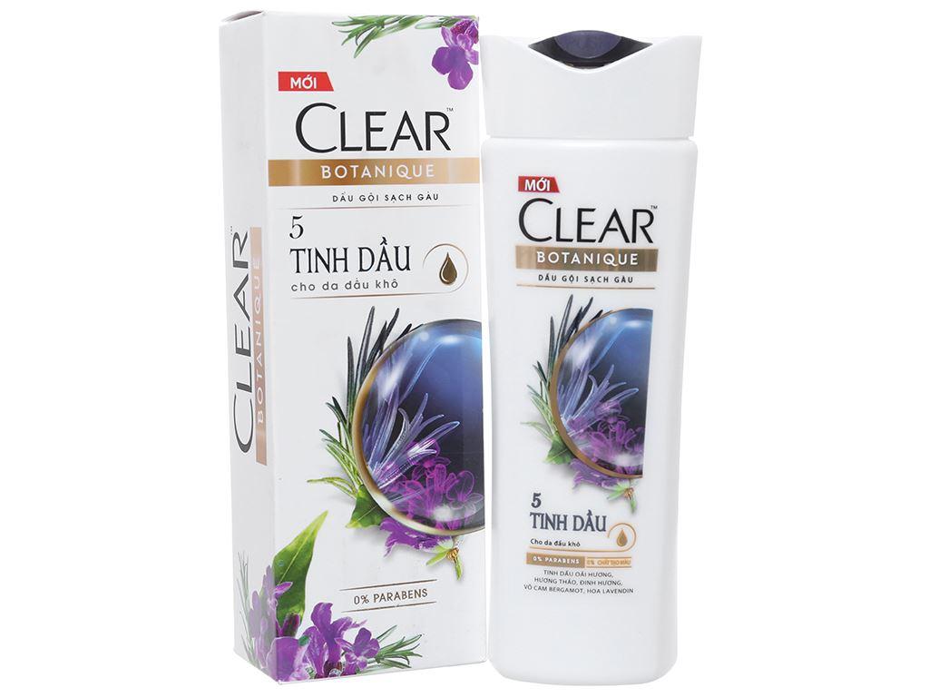 Dầu gội sạch gàu Clear Botanique 5 tinh dầu 175ml 1
