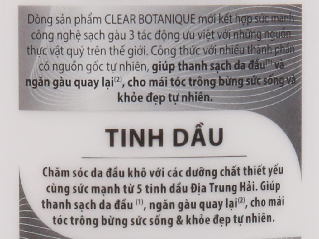 Dầu gội sạch gàu Clear Botanique 5 tinh dầu 631ml 7
