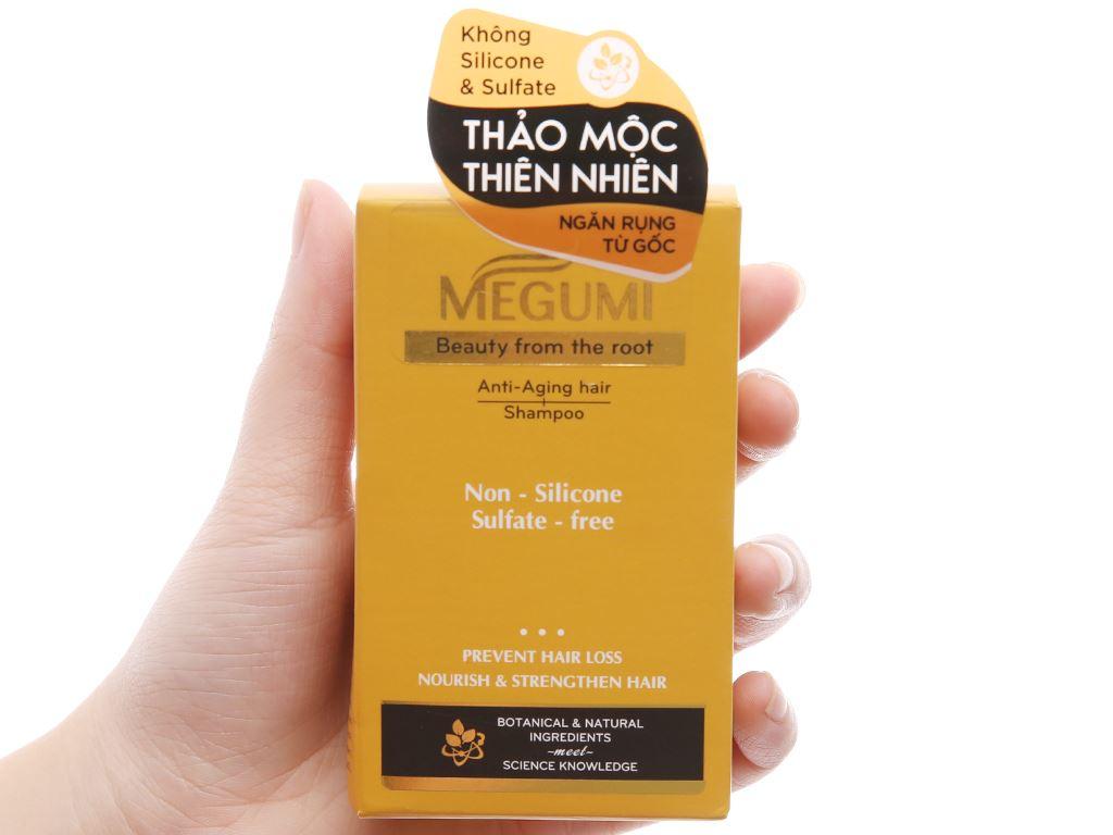 Dầu gội ngăn lão hoá tóc Megumi 9g x 5 gói 4