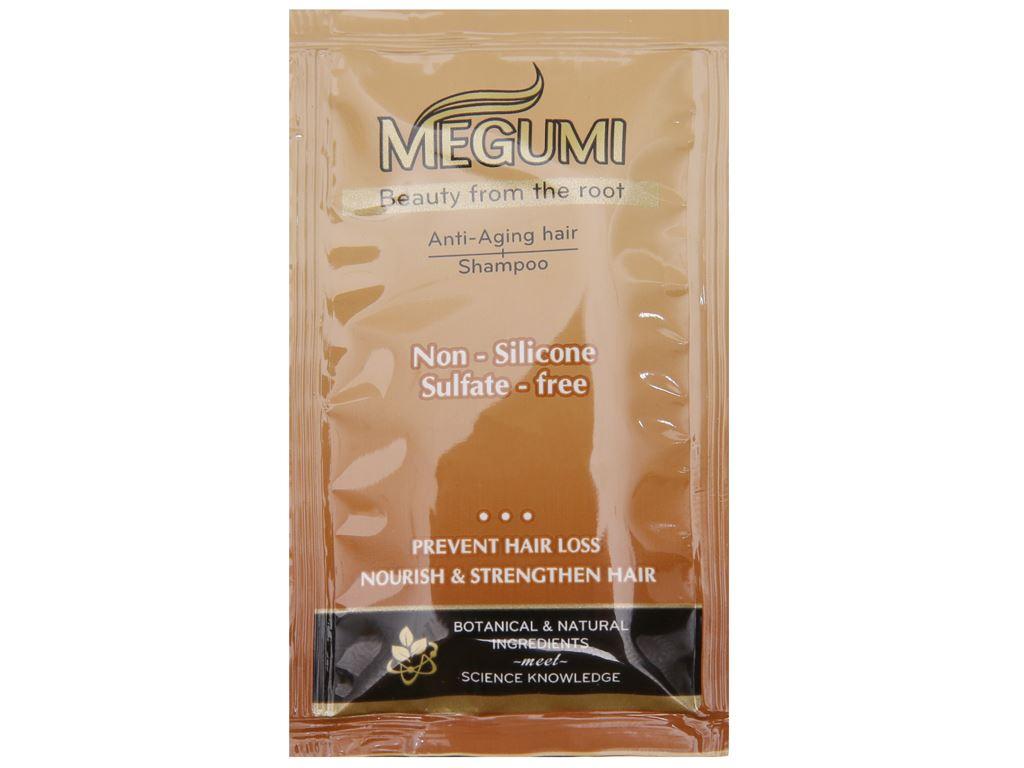 Dầu gội ngăn lão hoá tóc Megumi 9g x 5 gói 3