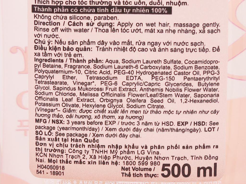Dầu gội Organist giấm thảo mộc tự nhiên 500ml 3