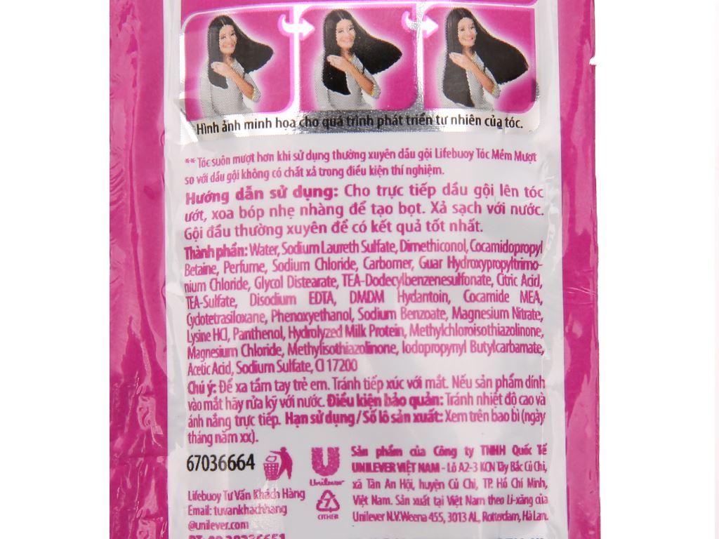 Dầu gội Lifebuoy tóc mềm mượt 6g x 12 gói 5