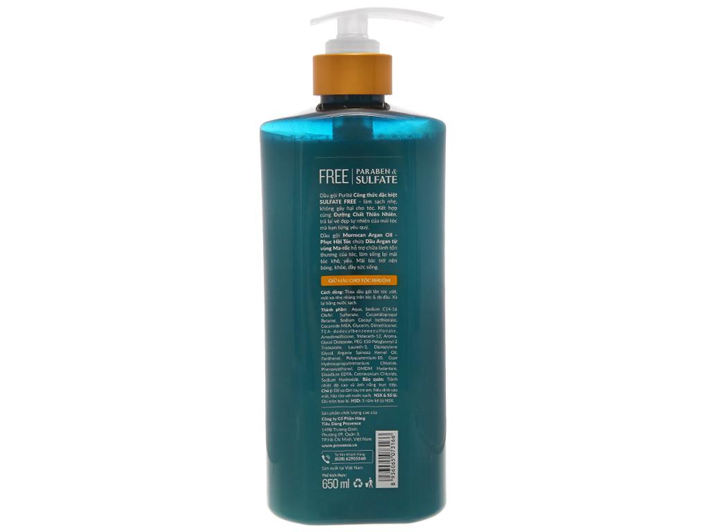 Dầu gội Purité giữ màu tóc nhuộm dịu nhẹ 650ml 3