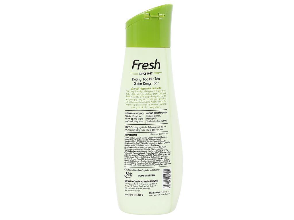 Dầu gội Fresh dưỡng tóc hư tổn giảm rụng tóc 180g 2