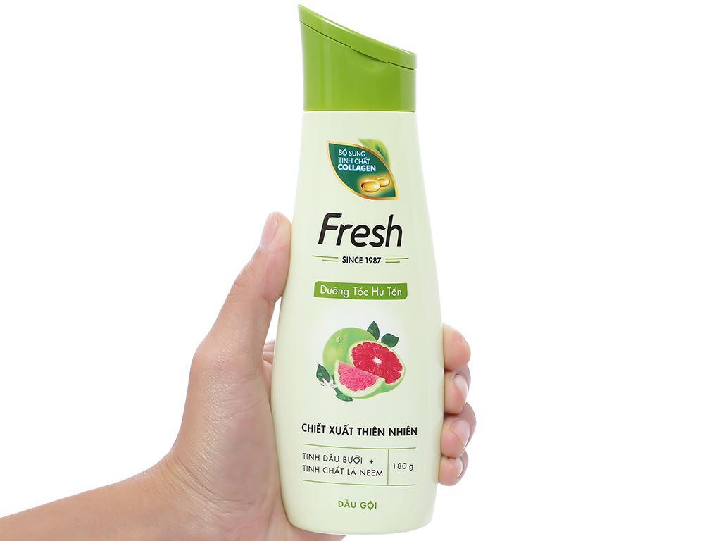 Dầu gội Fresh dưỡng tóc hư tổn giảm rụng tóc 180g 3