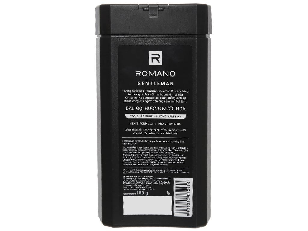 Dầu gội hương nước hoa Romano Gentleman tóc chắc khoẻ 180g 2
