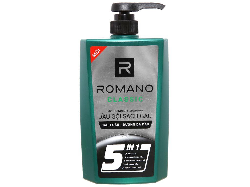 Dầu gội sạch gàu Romano Classic 650g 650g 1