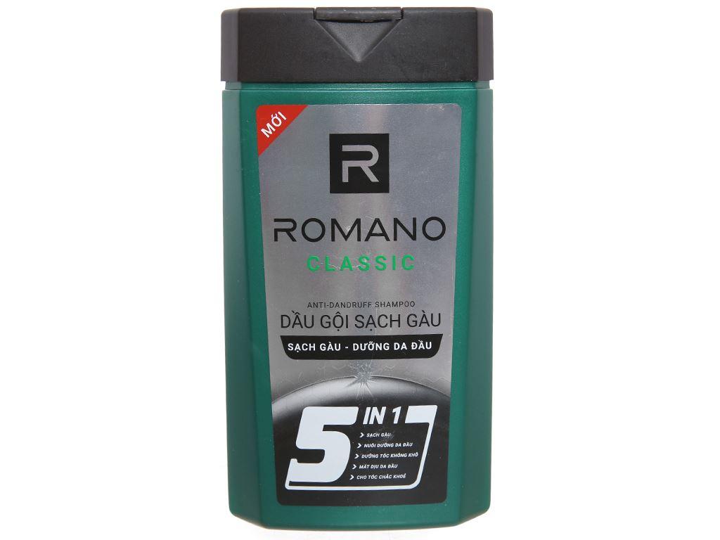 Dầu gội sạch gàu Romano Classic 380g 1