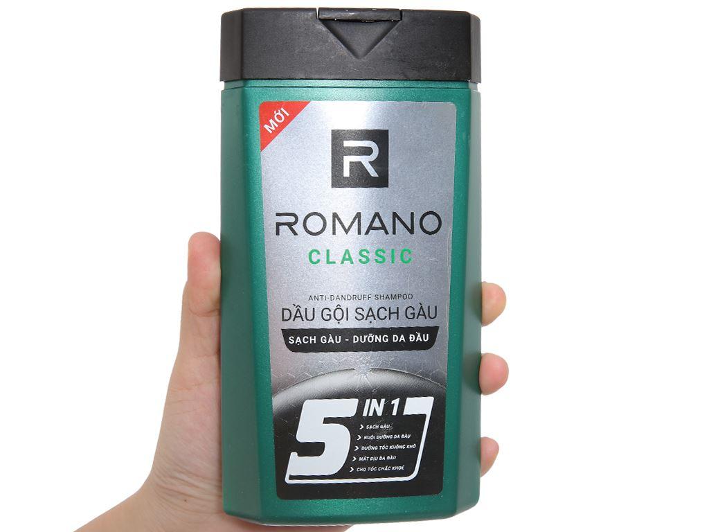 Dầu gội sạch gàu Romano Classic 380g 3
