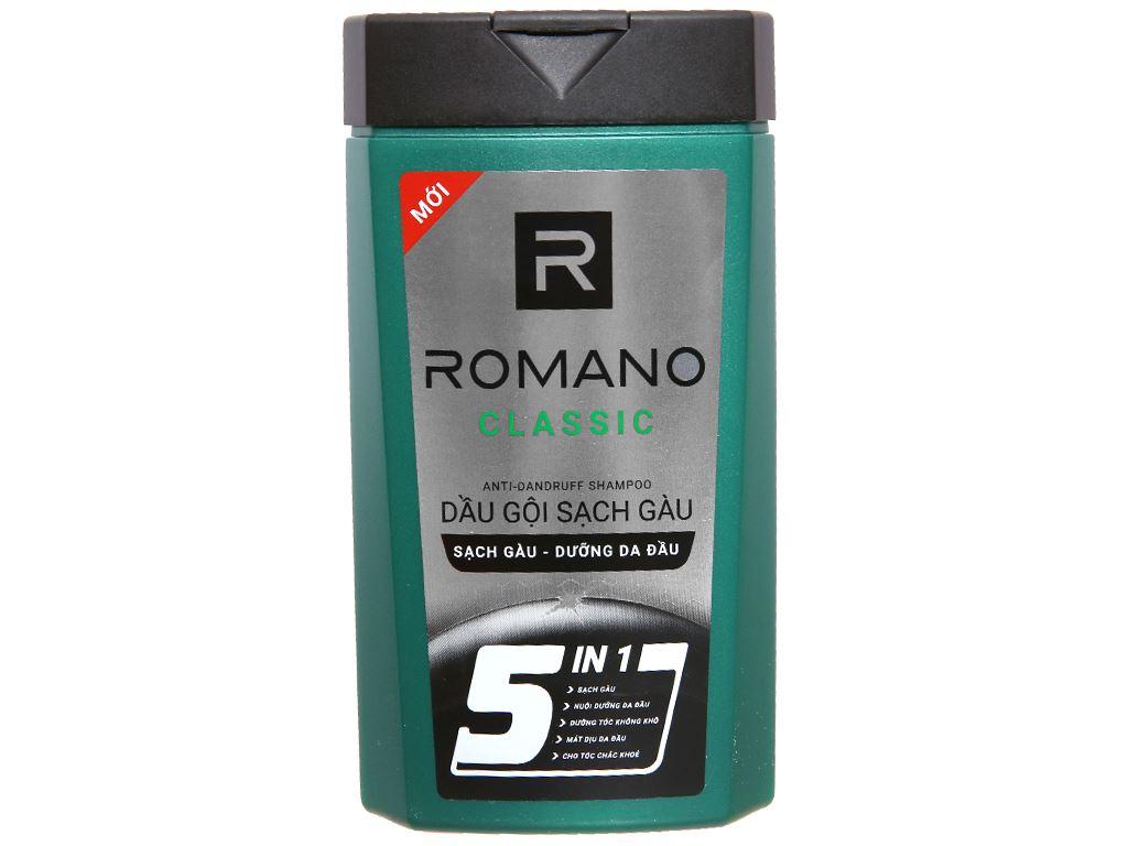 Dầu gội sạch gàu Romano Classic 180g 1