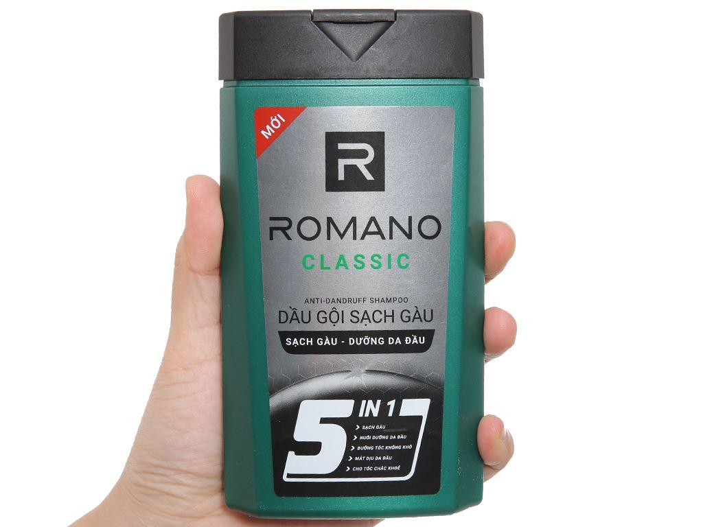 Dầu gội sạch gàu Romano Classic 180g 4