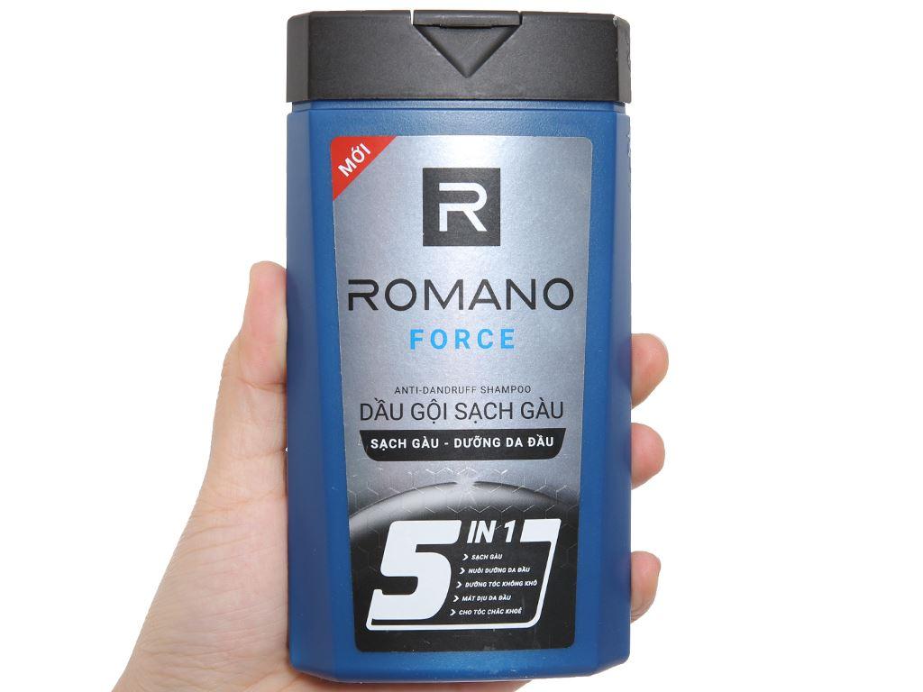 Dầu gội sạch gàu Romano Force 180g 4
