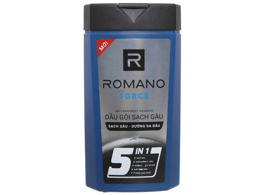 Dầu gội sạch gàu Romano Force 5 in 1 hương nước hoa 380g 1