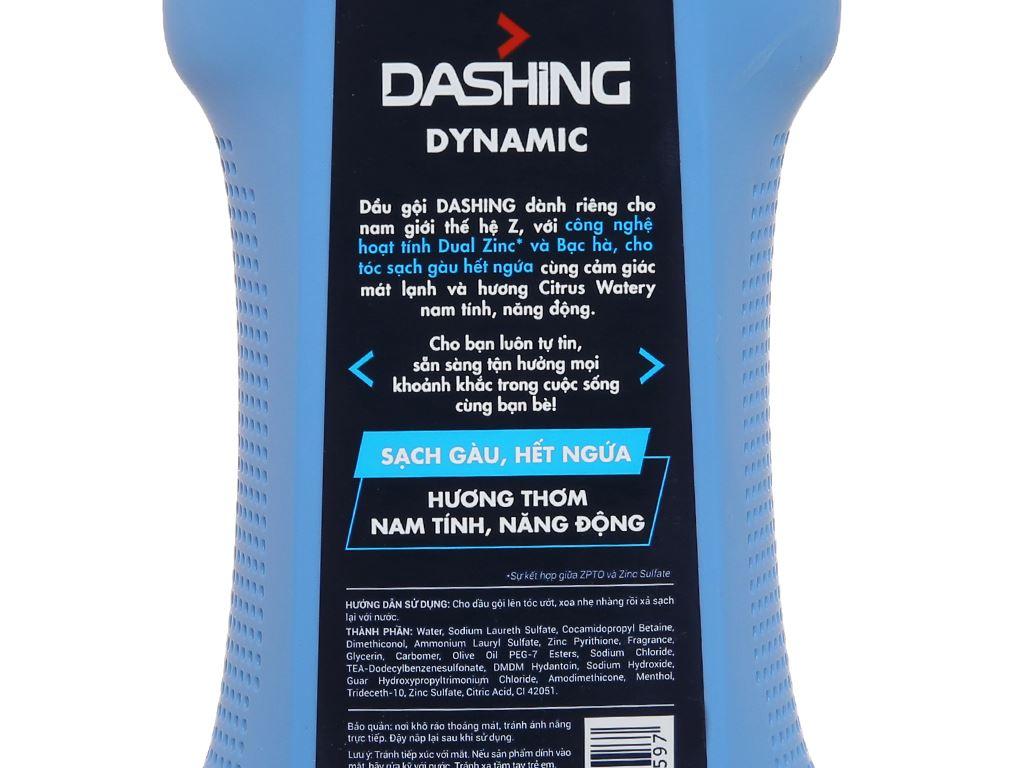 Dầu gội Dashing Men Dynamic sạch gàu 650g 3