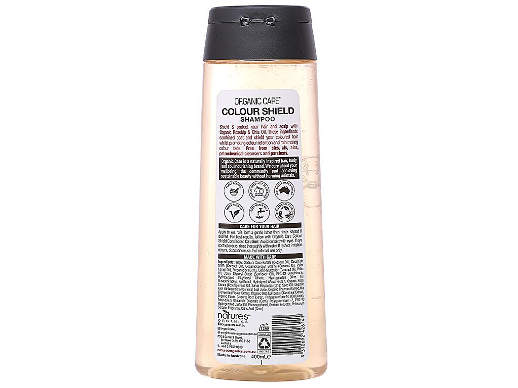 Dầu gội dành cho tóc nhuộm Organic Care Colour Shield 400ml 2