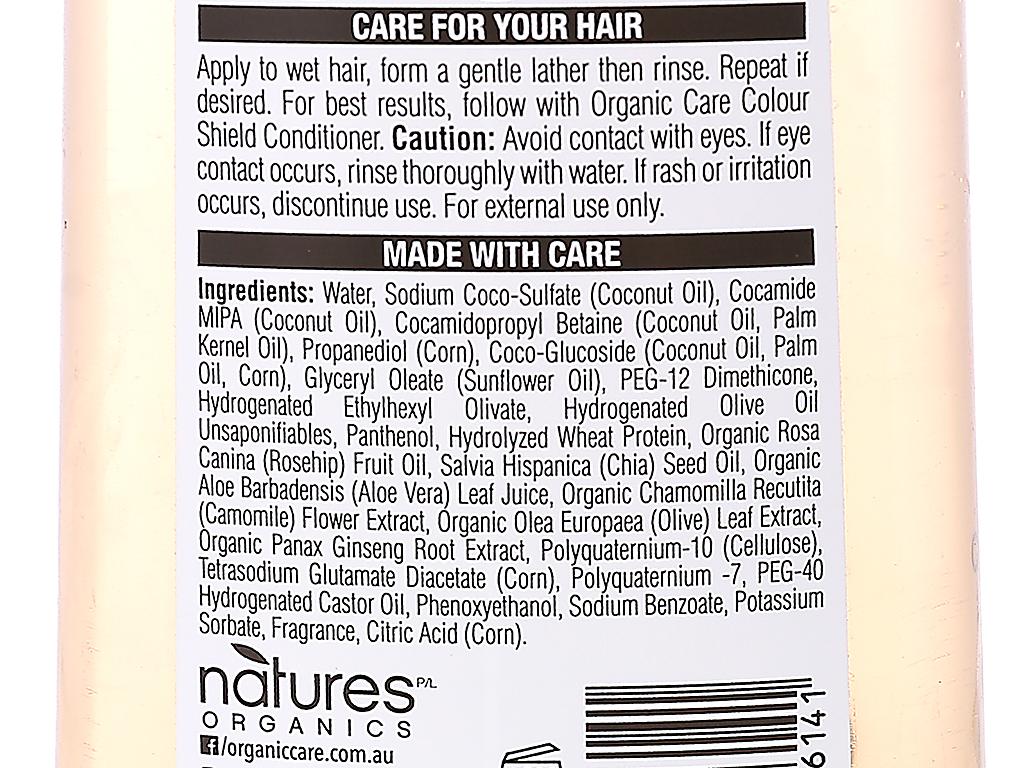 Dầu gội dành cho tóc nhuộm Organic Care Colour Shield 400ml 4