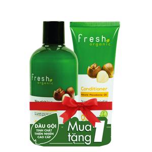 Dầu gội từ hạt Macca Fresh Organic 250g (tặng dầu xả từ hạt Macca Fresh Organic 65g trị giá 29.000đ)