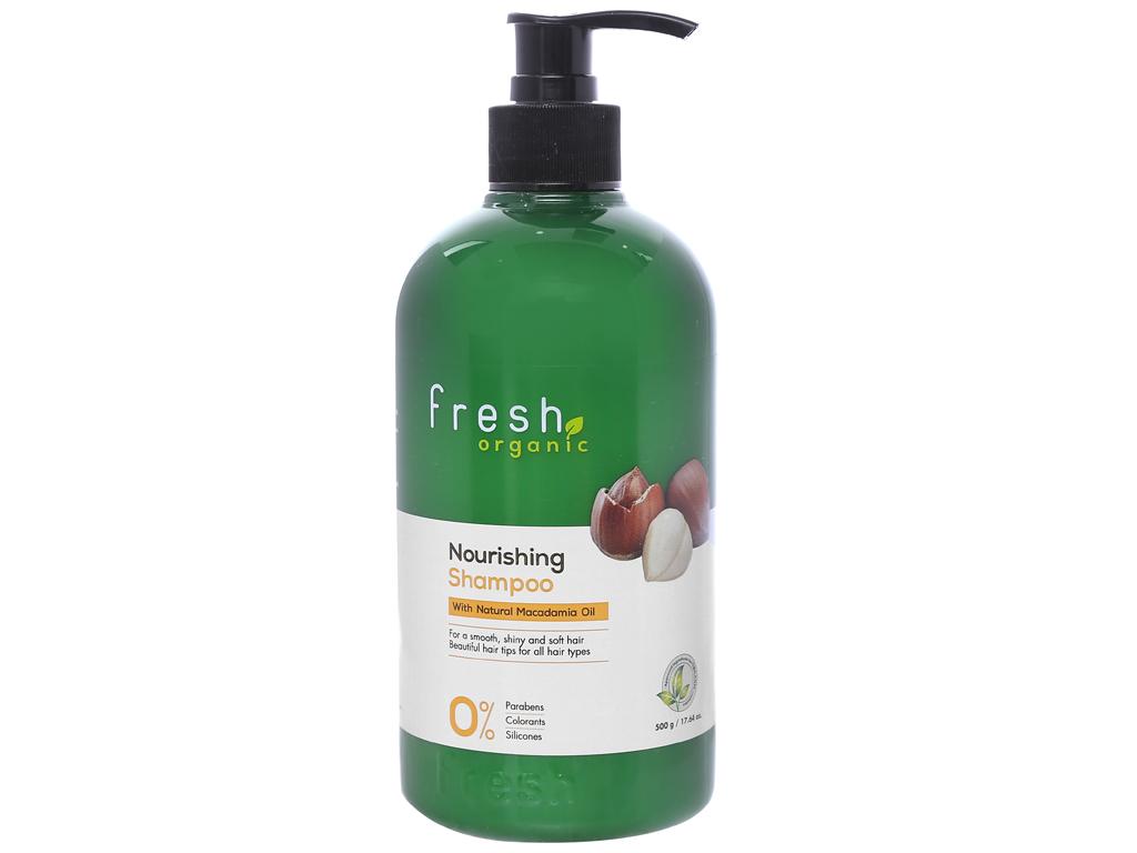 Dầu gội từ hạt Macca Fresh Organic 500g (tặng dầu xả từ hạt Macca Fresh Organic 180g trị giá 49.000đ) 2