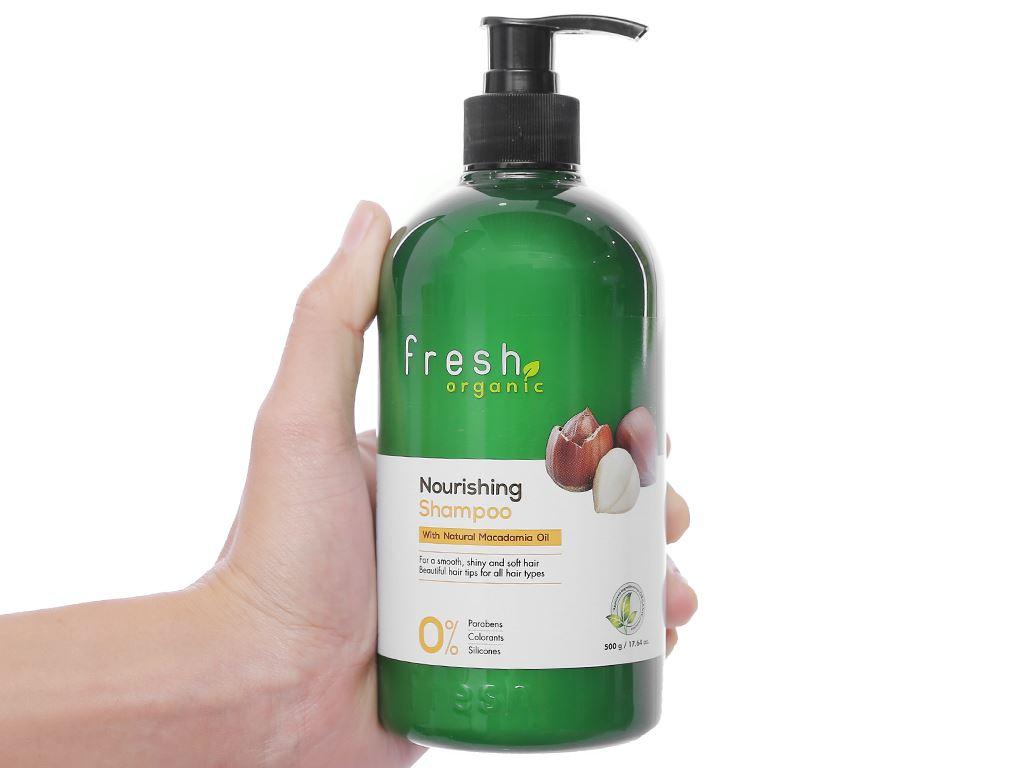 Dầu gội từ hạt Macca Fresh Organic 500g (tặng dầu xả từ hạt Macca Fresh Organic 180g trị giá 49.000đ) 4