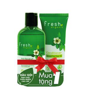 Dầu gội từ tràm trà Fresh Organic 250g (tặng dầu xả từ tràm trà Fresh Organic 65g trị giá 29.000đ)