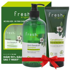 Dầu gội từ tràm trà Fresh Organic 500g (tặng dầu xả từ tràm trà Fresh Organic 180g trị giá 49.000đ)