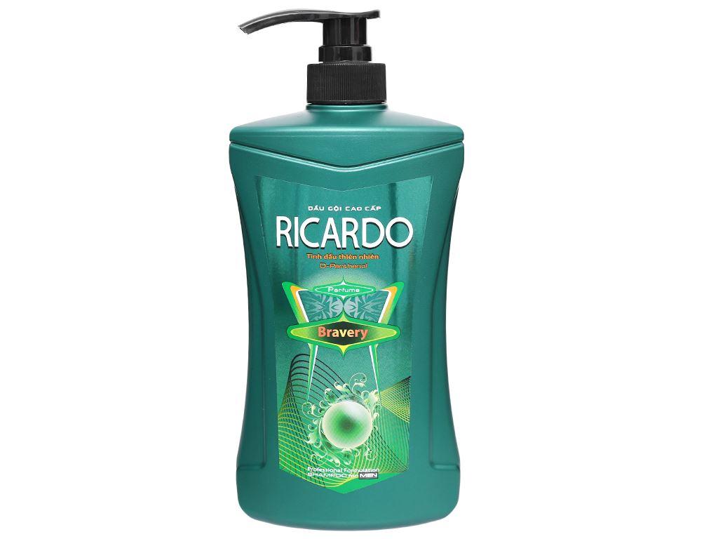 Dầu gội mượt tóc Ricardo Men Bravery tinh dầu thiên nhiên 650g 1