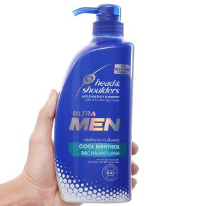 Dầu gội Head & Shoulders Ultra Men bạc hà mát lạnh 720ml