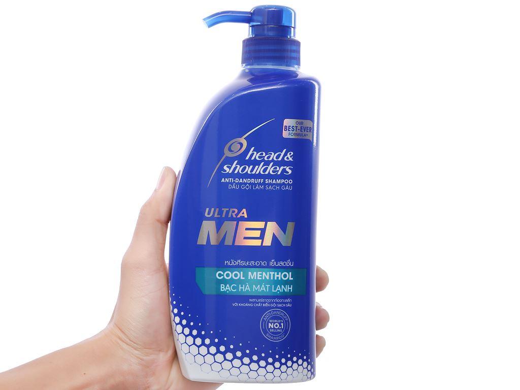 Dầu gội Head & Shoulders Ultra Men bạc hà mát lạnh 720ml 3