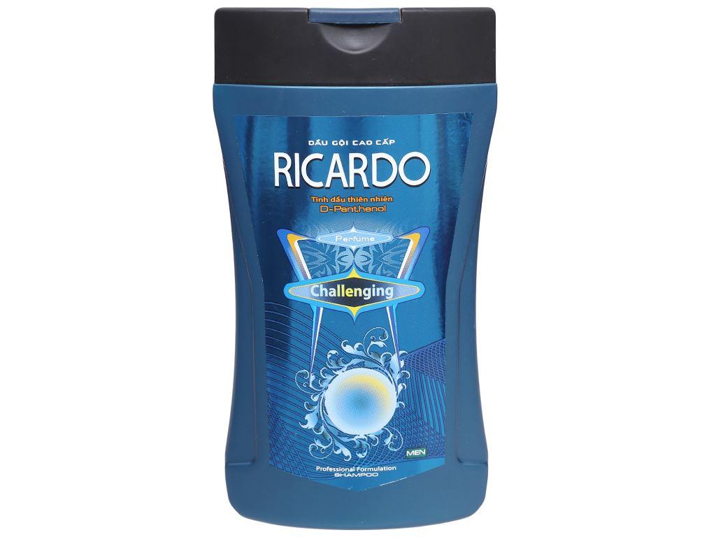 Dầu gội mượt tóc Ricardo Men Challenging tinh dầu thiên nhiên 180g 1