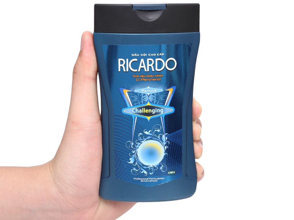 Dầu gội mượt tóc Ricardo Men Challenging tinh dầu thiên nhiên 180g 4