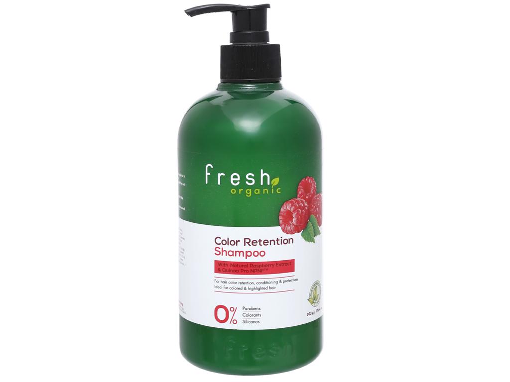 Dầu gội Fresh Organic giữ màu tóc nhuộm 500g 1