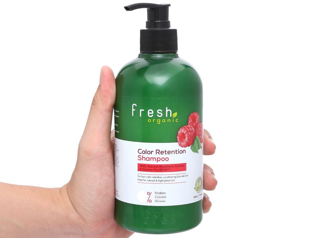 Dầu gội Fresh Organic giữ màu tóc nhuộm 500g 4
