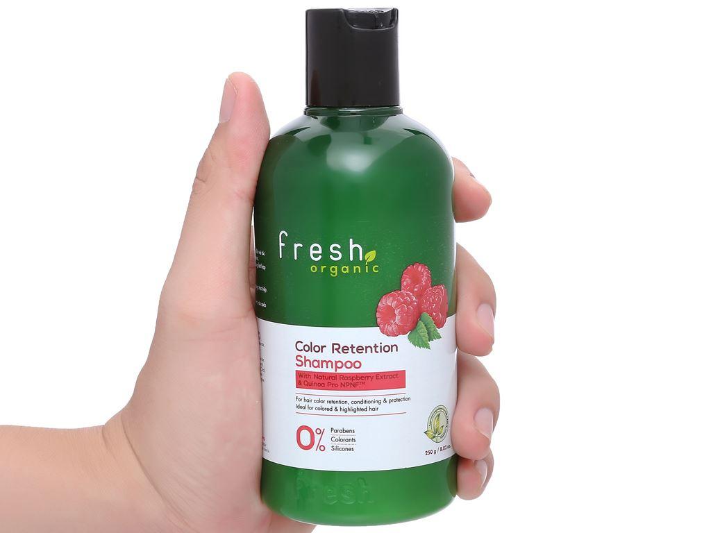 Dầu gội Fresh Organic giữ màu tóc nhuộm 250g 4