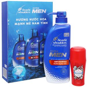 Dầu gội Head & Shoulders Ultra Men ngăn rụng tóc 550ml (tặng lăn khử mùi Old Spice Wolfthorn 50ml)