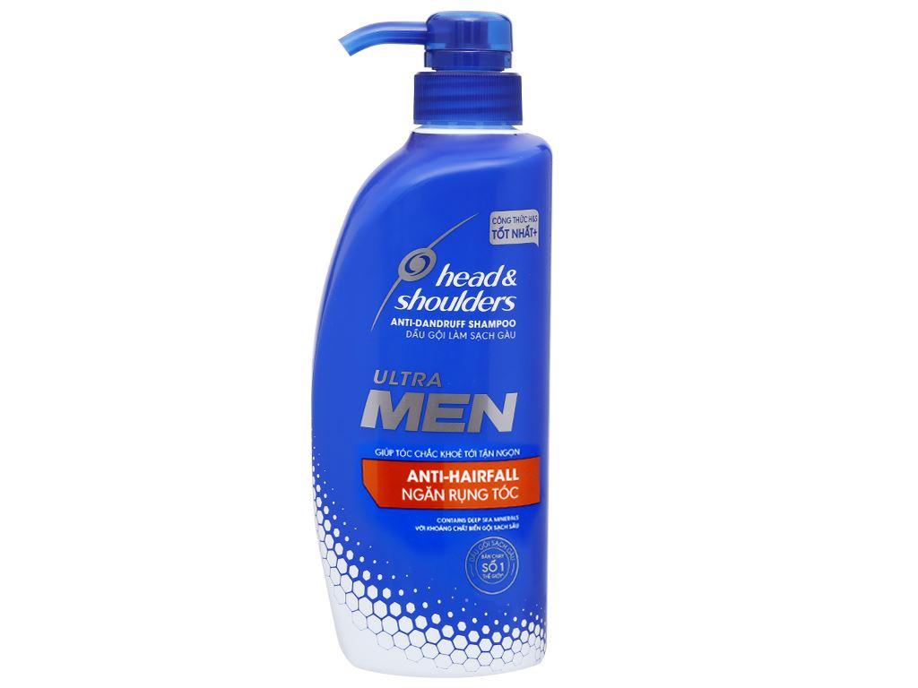 Dầu gội sạch gàu Head & Shoulders Ultra Men ngăn rụng tóc 550ml (tặng lăn khử mùi Old Spice Wolfthorn 50ml) 3