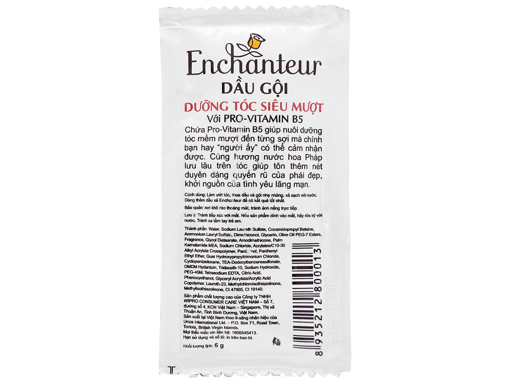 Dầu gội dưỡng tóc siêu mượt Enchanteur Charming 6g x 10 gói 3