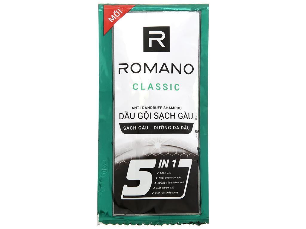 Dầu gội sạch gàu Romano Classic 5g x 10 gói 2