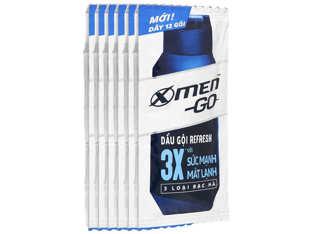 Dầu gội Refresh X-Men Go 3X mát lạnh 5g x 12 gói 1