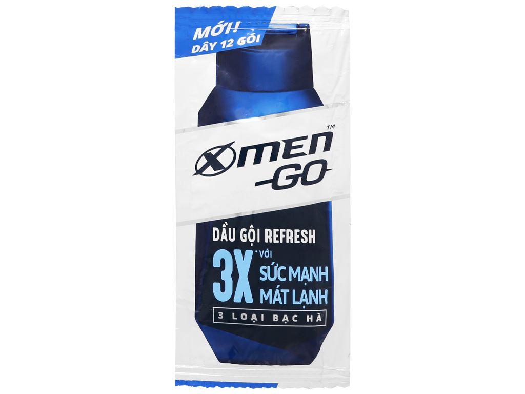 Dầu gội Refresh X-Men Go 3X mát lạnh 5g x 12 gói 2