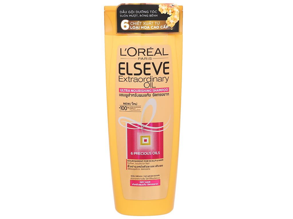 Dầu gội dưỡng tóc L'Oréal Elseve tinh dầu hoa 330ml 1