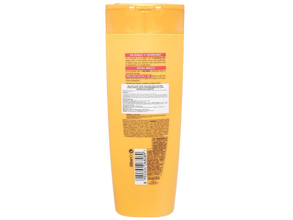 Dầu gội dưỡng tóc L'Oréal Elseve tinh dầu hoa 330ml 2